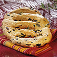 Banque image culinaire : Fougasse aux olives