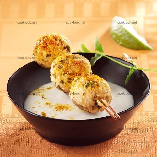 Dinde au curry et sauce yaourt
