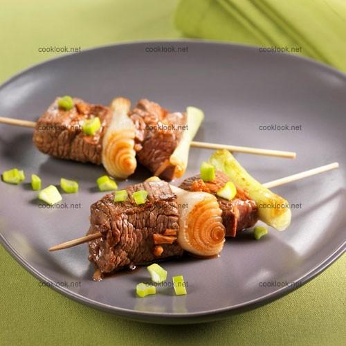 Brochettes de bœuf aux saveurs asiatiques