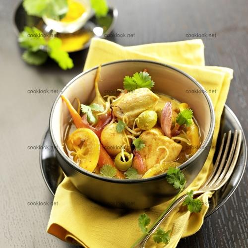 Poulet citron aux olives