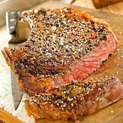 Photo culinaire c te de boeuf aux 3 saveurs de poivre cooklook photo recette cuisine et - Temps cuisson cote de boeuf ...
