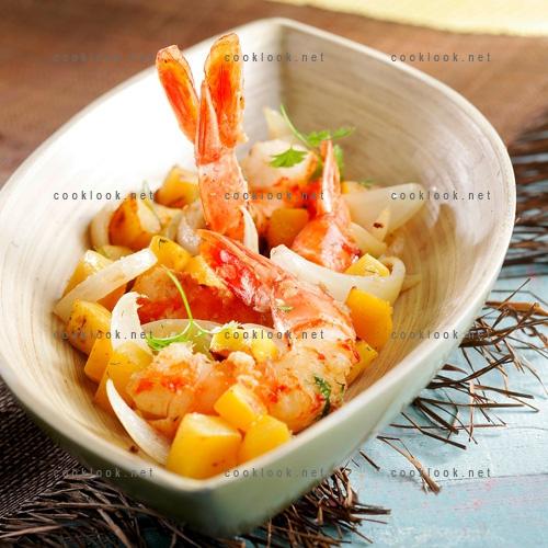 Photo culinaire gambas mangue et galanga cooklook photo recette cuisine et photographies - Recettes cuisine du monde ...