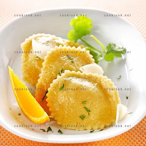 Raviolis carottes et coriandre