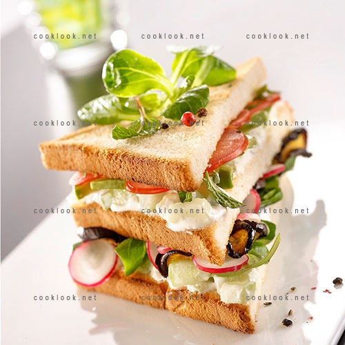 Sandwich de légumes