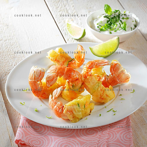 Langoustines en beignet