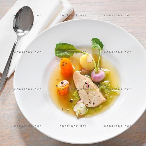 Foie gras façon pot au feu