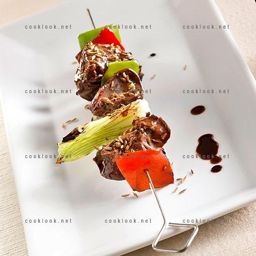 Brochettes de foies de volaille