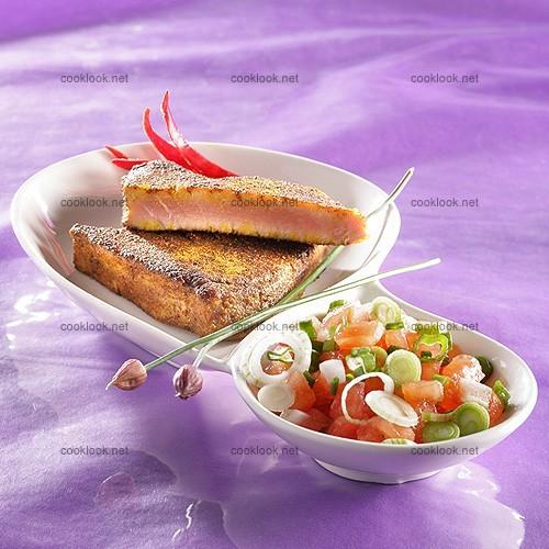 photo culinaire pav de thon au curry cooklook photo recette cuisine et photographies. Black Bedroom Furniture Sets. Home Design Ideas
