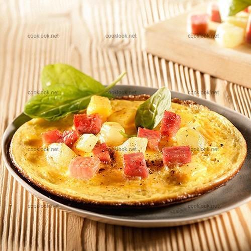 Omelette en tagliatelles