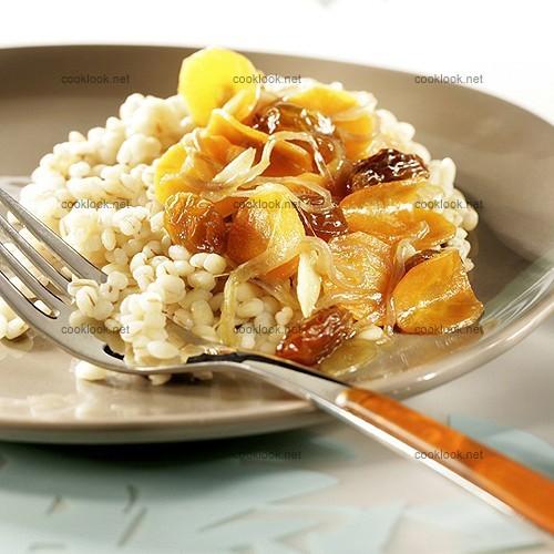 Orge perlé au miel et fruits secs