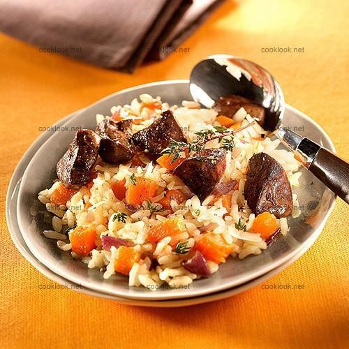 photo culinaire risotto au potiron et foies de volaille cooklook photo recette cuisine et. Black Bedroom Furniture Sets. Home Design Ideas