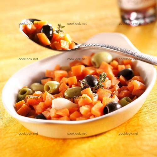 Carottes et olives