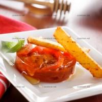 photo recette Pressé de tomates et bâtonnets de polenta