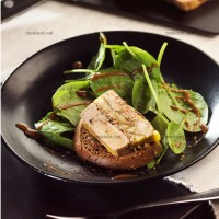 photo recette Terrine de foie gras, pommes et figues sèches