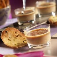photo recette Crème caramel au carambar et tuiles aux pistaches