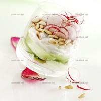 photo recette Verrines de crudités au yaourt