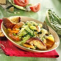 photo recette Soupe de légumes à l'ail