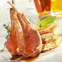 photo recette Carré d'agneau à la fleur de thym