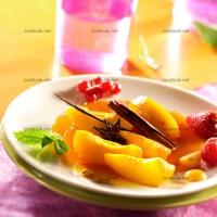 photo recette Salade épicée de nectarine jaune