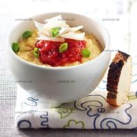photo recette Crème d'œufs et concassée de tomates