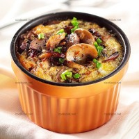 photo recette Des œufs et des champignons en flan
