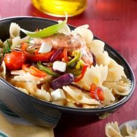 photo recette Pâtes aux légumes et sauce parmesan