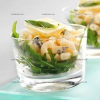 photo recette Roquette et coquillettes au bleu