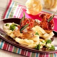 photo recette Piccata aux tagliatelles et brocolis