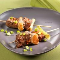 photo recette Brochettes de bœuf aux saveurs asiatiques