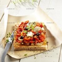 photo recette Tartine aux poivrons confits