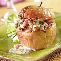 photo recette Pommes farcies à l'andouillette et à la moutarde de Meaux