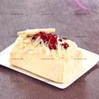 photo recette Bûche mascarpone griottes
