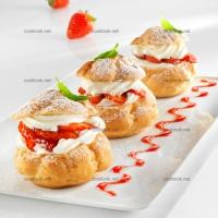 photo recette Choux à la fraise