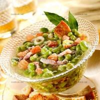 photo recette Soupe de fèves aux lardons