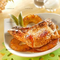 photo recette Côtes de porc et ananas caramélisés au miel