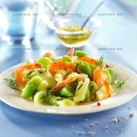 photo recette Poireaux crevettes en vinaigrette