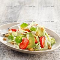photo recette Salade gourmande aux fraises