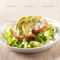 photo recette Tartine et salade