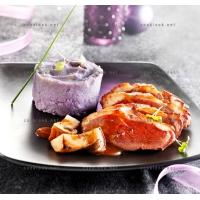 photo recette Canard aux cèpes, et vitelotte mixée