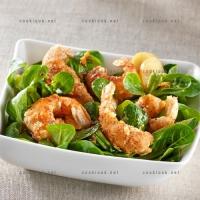 photo recette Langoustines panées en salade