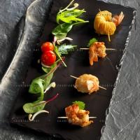photo recette Petites brochettes de langoustines accompagnées