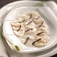 photo recette Carpaccio de Saint Jacques à la truffe