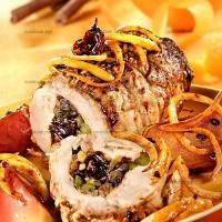 photo recette Filet de porc aux pruneaux, aux pistaches et aux pommes