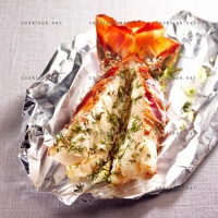 photo recette Queue de langouste aux herbes