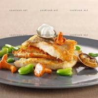 photo recette Turbot rôti, petits légumes et mousse de palourdes