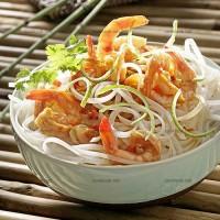 photo recette Crevettes pimentées et nouilles de riz