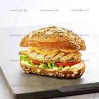 photo recette Hamburger au poulet froid