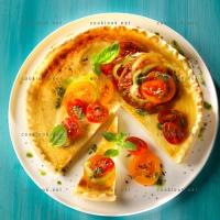 photo recette Tarte au parmesan tomate et pesto