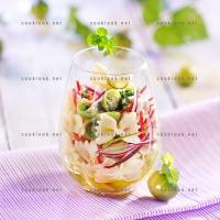 photo recette Farfalles et tomates vertes