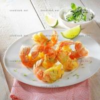 photo recette Langoustines en beignet